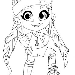 Раскраски Кукла-загадка cтильные подружки «Hairdorables» хаирдораблес Брит, чтобы распечатать
