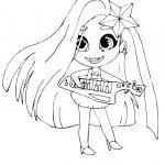Раскраски Кукла-загадка cтильные подружки «Hairdorables» хаирдораблес Гармония (Harmony), чтобы распечатать
