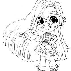 Раскраски Кукла-загадка cтильные подружки «Hairdorables» хаирдораблес Sallee (Салли), чтобы распечатать
