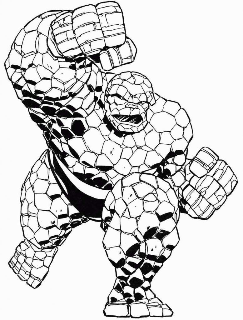 Раскраски Супергерои Марвел для мальчиков «Каменный человек», чтобы распечатать