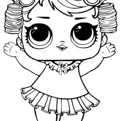 Раскраски «кукла ЛОЛ» пижамная вечеринка BABYDOLL, чтобы бесплатно распечатать