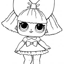 Раскраски «кукла ЛОЛ» королева блесток, чтобы бесплатно распечатать