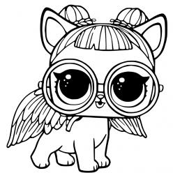 Раскраски «кукла ЛОЛ» питомец сахарный щенок, чтобы бесплатно распечатать