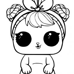 Раскраски «кукла ЛОЛ» Кукла ЛОЛ питомец зайчик, чтобы бесплатно распечатать