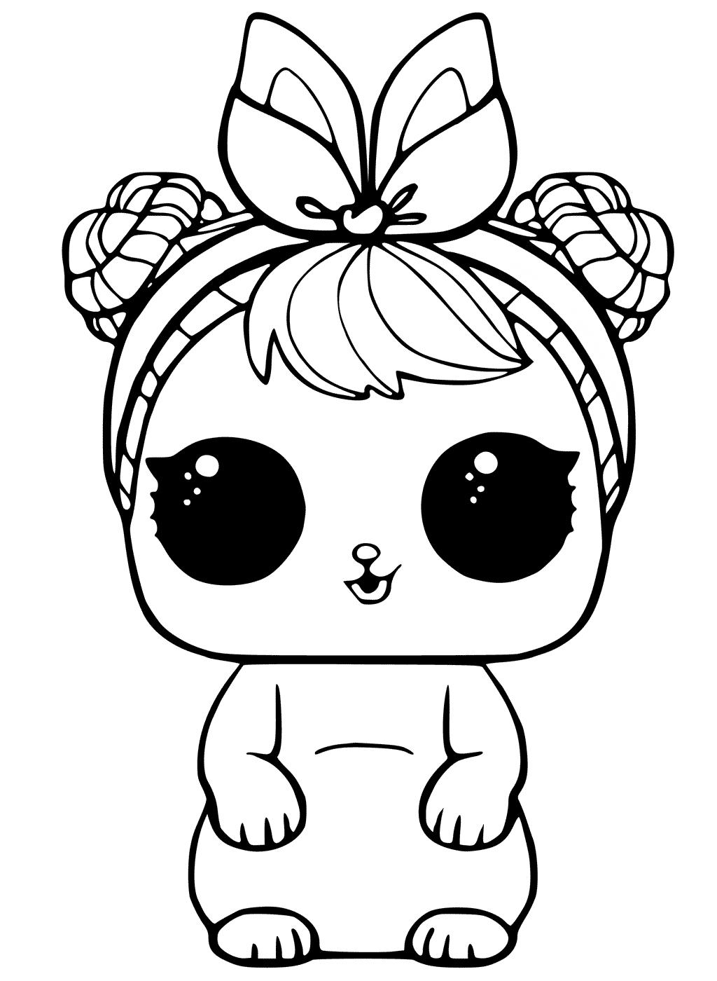 Кукла ЛОЛ питомец зайчик - Куклы LOL - Раскраски антистресс