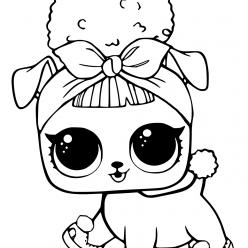 Раскраски «кукла ЛОЛ» питомец собачка пчелка, чтобы бесплатно распечатать