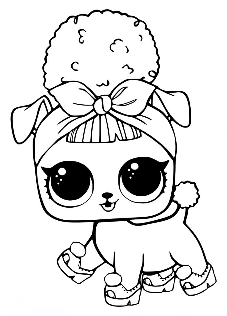 Кукла ЛОЛ собачка пчелка - Куклы LOL - Раскраски антистресс