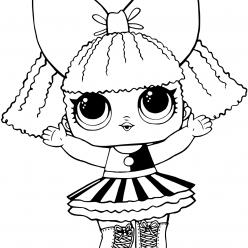 Раскраски «кукла ЛОЛ» Pranksta шутница, чтобы бесплатно распечатать