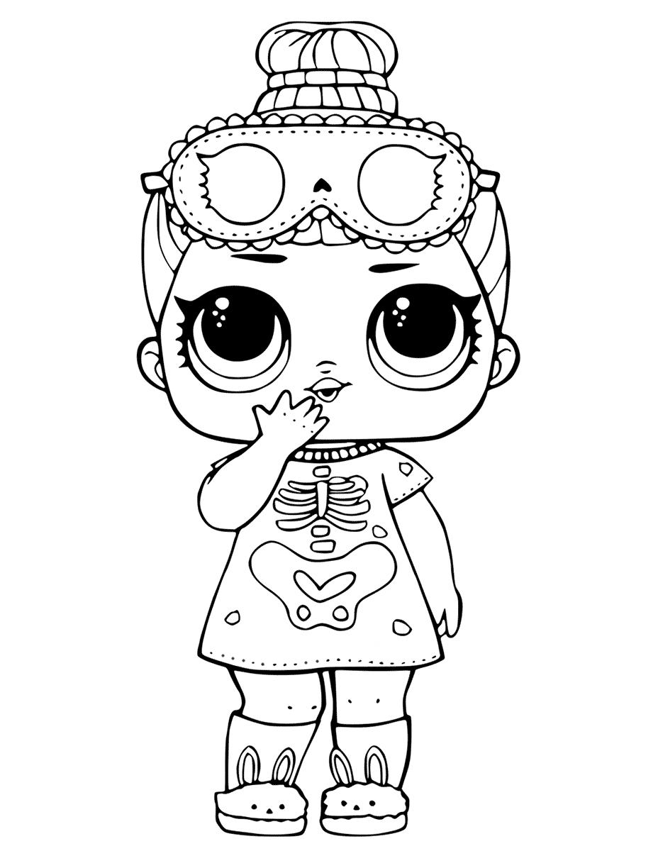 Кукла ЛОЛ конфетти сонные косточки - Куклы LOL - Раскраски ...