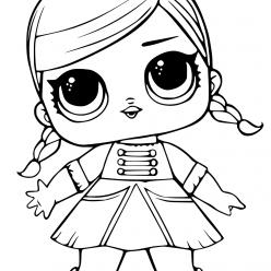 Раскраски «кукла ЛОЛ» леди оркестр, чтобы бесплатно распечатать