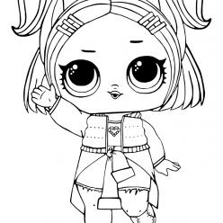 Раскраски «кукла ЛОЛ» конфетти VRQT, чтобы бесплатно распечатать