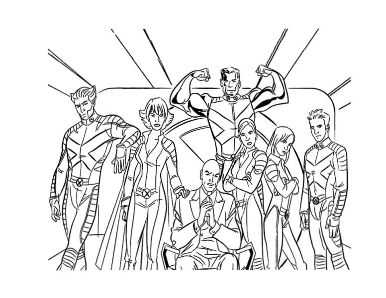 Раскраски супергерои для мальчиков «Люди Х», чтобы распечатать
