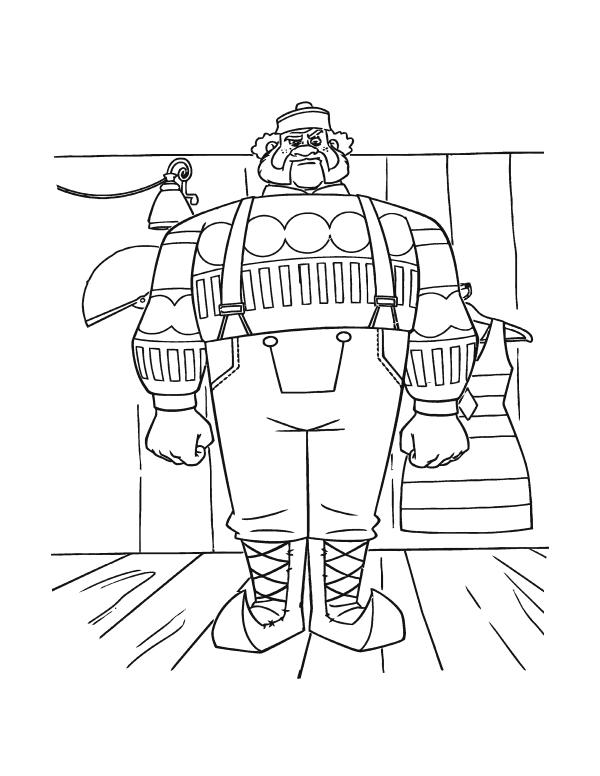 Раскраски из мультфильма Холодное Сердце «Продавец лавки», чтобы распечатать