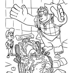 Раскраски из мультфильма Ральф для детей «Ральф и Феликс», чтобы распечатать