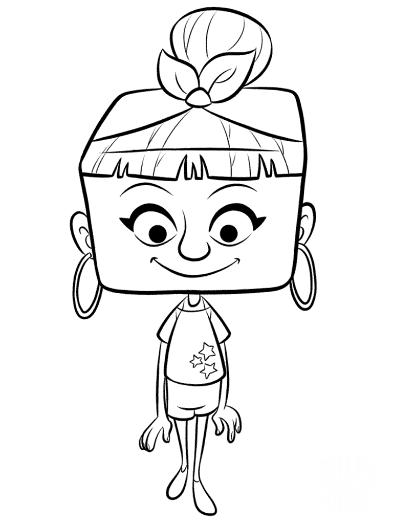 Раскраски из мультфильма Ральф для детей «Житель интернета», чтобы распечатать