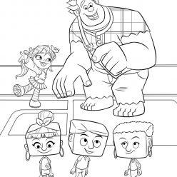 Раскраски из мультфильма Ральф для детей «Ральф и Ванилопа в интернете», чтобы распечатать