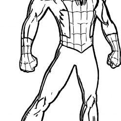Раскраски Супергерои Марвел для мальчиков «Человек паук в полный рост», чтобы распечатать