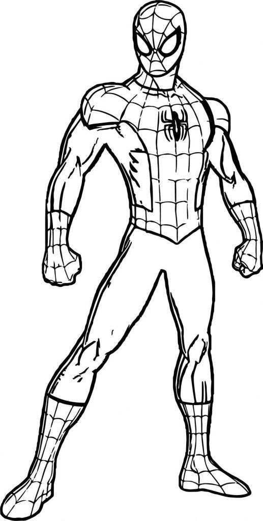 Человек паук в полный рост - Супергерои Марвел - Раскраски ...