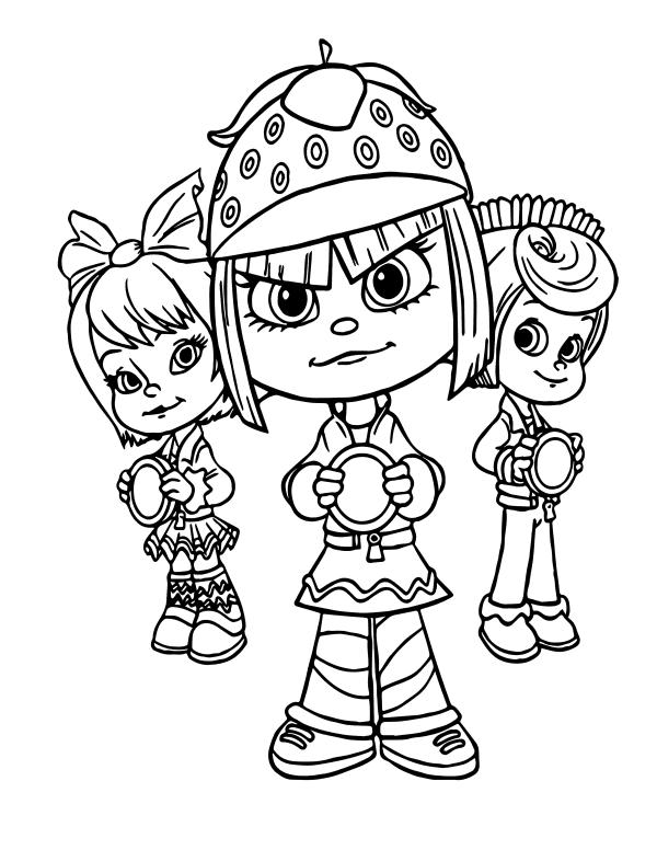 Раскраски из мультфильма Ральф для детей «Таффита Мармеладис», чтобы распечатать