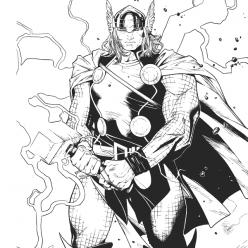 Раскраски супергерои для мальчиков «Тор», чтобы распечатать