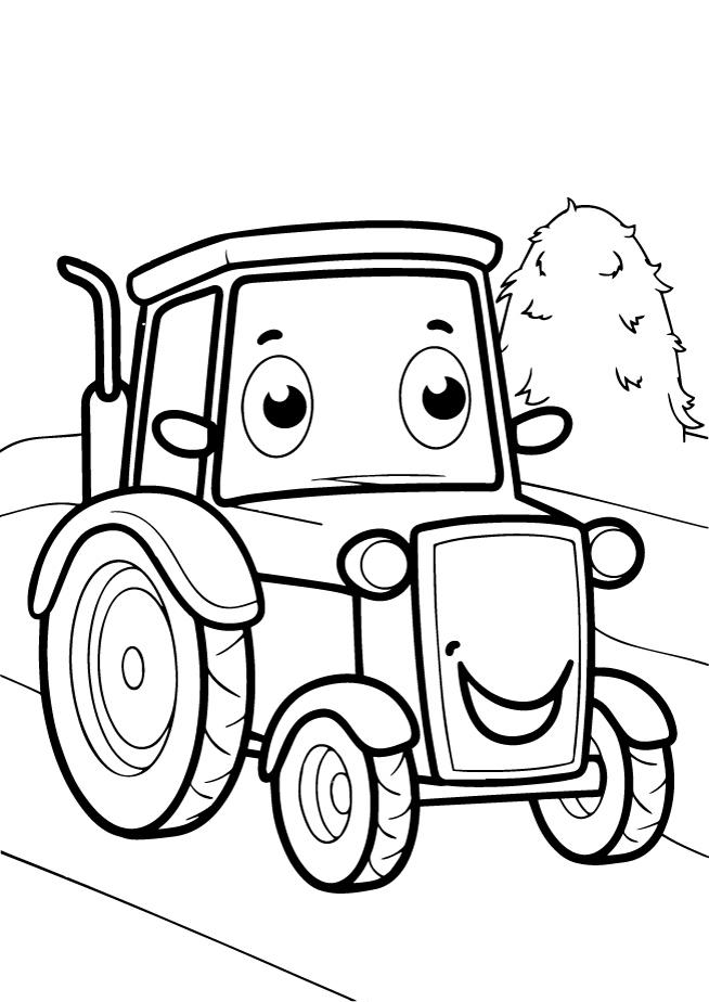 Трактор - Транспорт - Раскраски антистресс