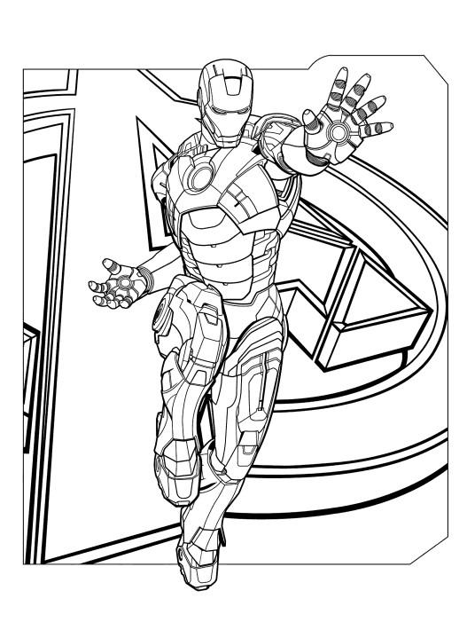 Раскраски супергерои для мальчиков «Железный человек», чтобы распечатать