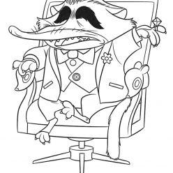 Раскраски из мультфильма «Зверополис» Мистер Биг, чтобы распечатать