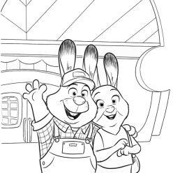 Раскраски из мультфильма «Зверополис» Родители Джуди Хопс, чтобы распечатать