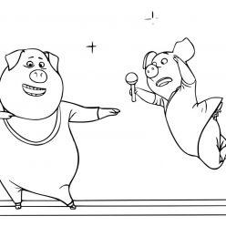 Раскраски из мультфильма Зверопой «Гюнтер и Розита», чтобы распечатать