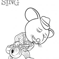 Раскраски из мультфильма Зверопой «Мышь Майк», чтобы распечатать