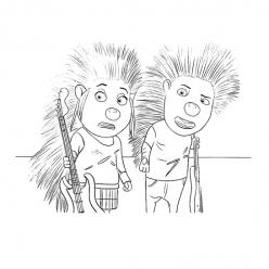 Раскраски из мультфильма Зверопой «Эш и Ланс», чтобы распечатать
