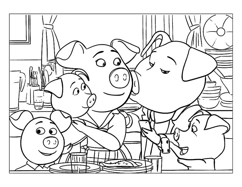 Раскраски из мультфильма Зверопой «Семья Розиты», чтобы распечатать