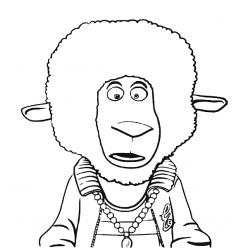 Раскраски из мультфильма Зверопой «Баран Эдди», чтобы распечатать