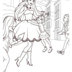 Раскраски «Барби актриса с детьми», чтобы распечатать в хорошем качестве
