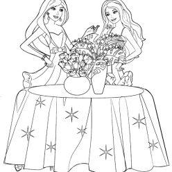 Раскраски «Барби флорист», чтобы распечатать в хорошем качестве