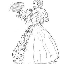 Раскраски «Барби в бальном платье», чтобы распечатать в хорошем качестве