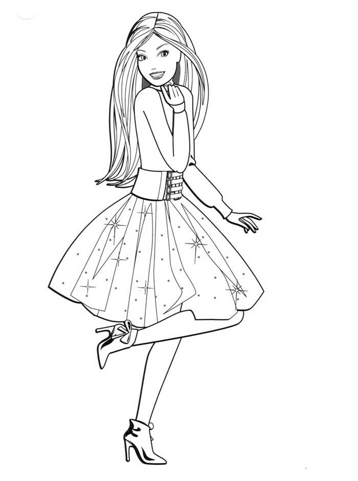 Раскраски «Барби модница», чтобы распечатать в хорошем качестве