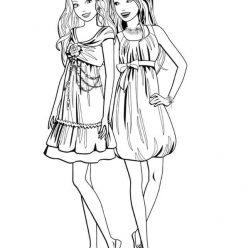 Раскраски «Кукла Барби модные наряды», чтобы распечатать в хорошем качестве