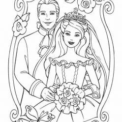 Раскраски «Кукла Принц и принцесса Барби», чтобы распечатать в хорошем качестве