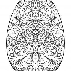 Раскраски праздник Пасха для детей «Яйцо на Пасху», чтобы распечатать