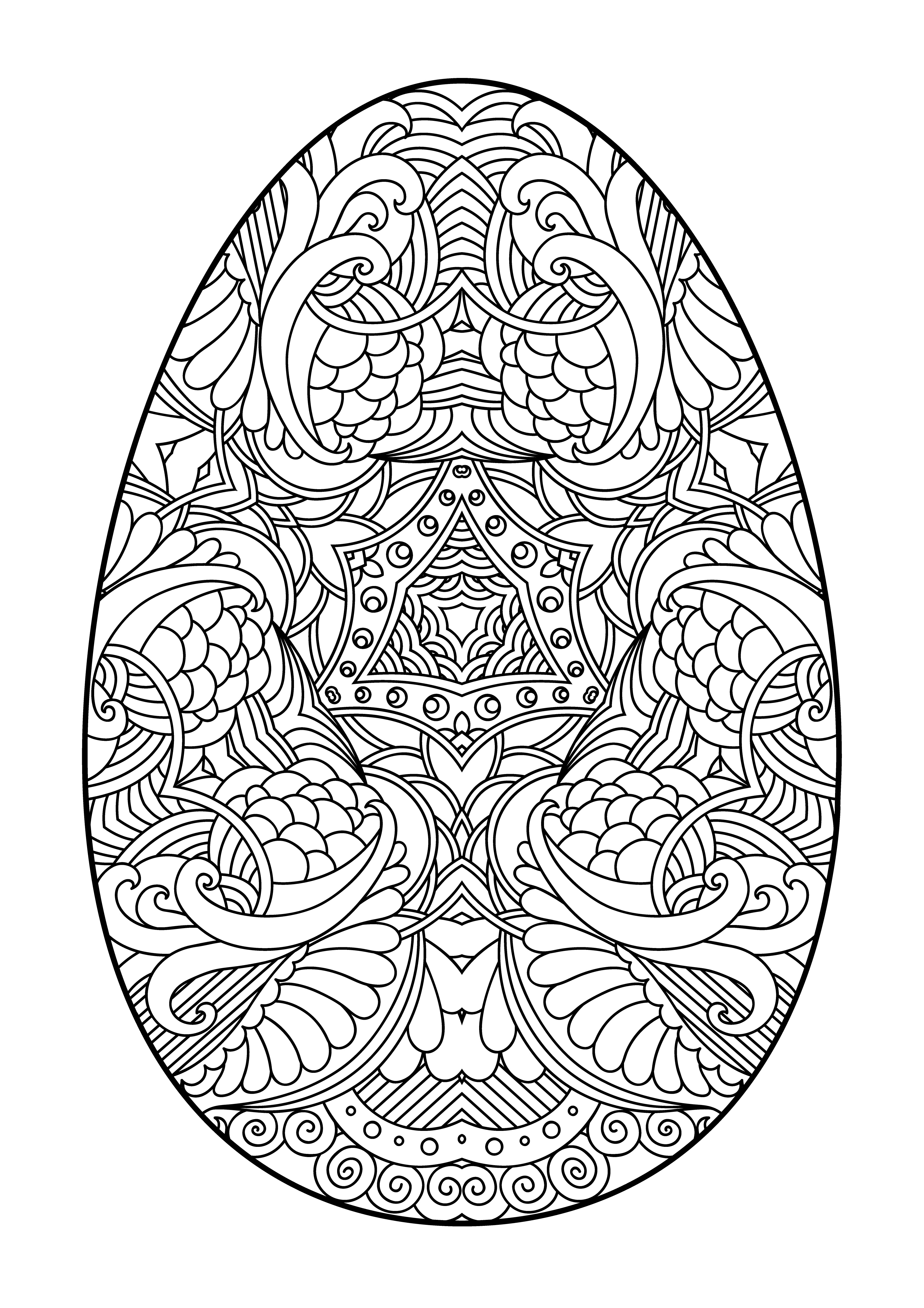 яйцо на пасху праздники раскраски антистресс