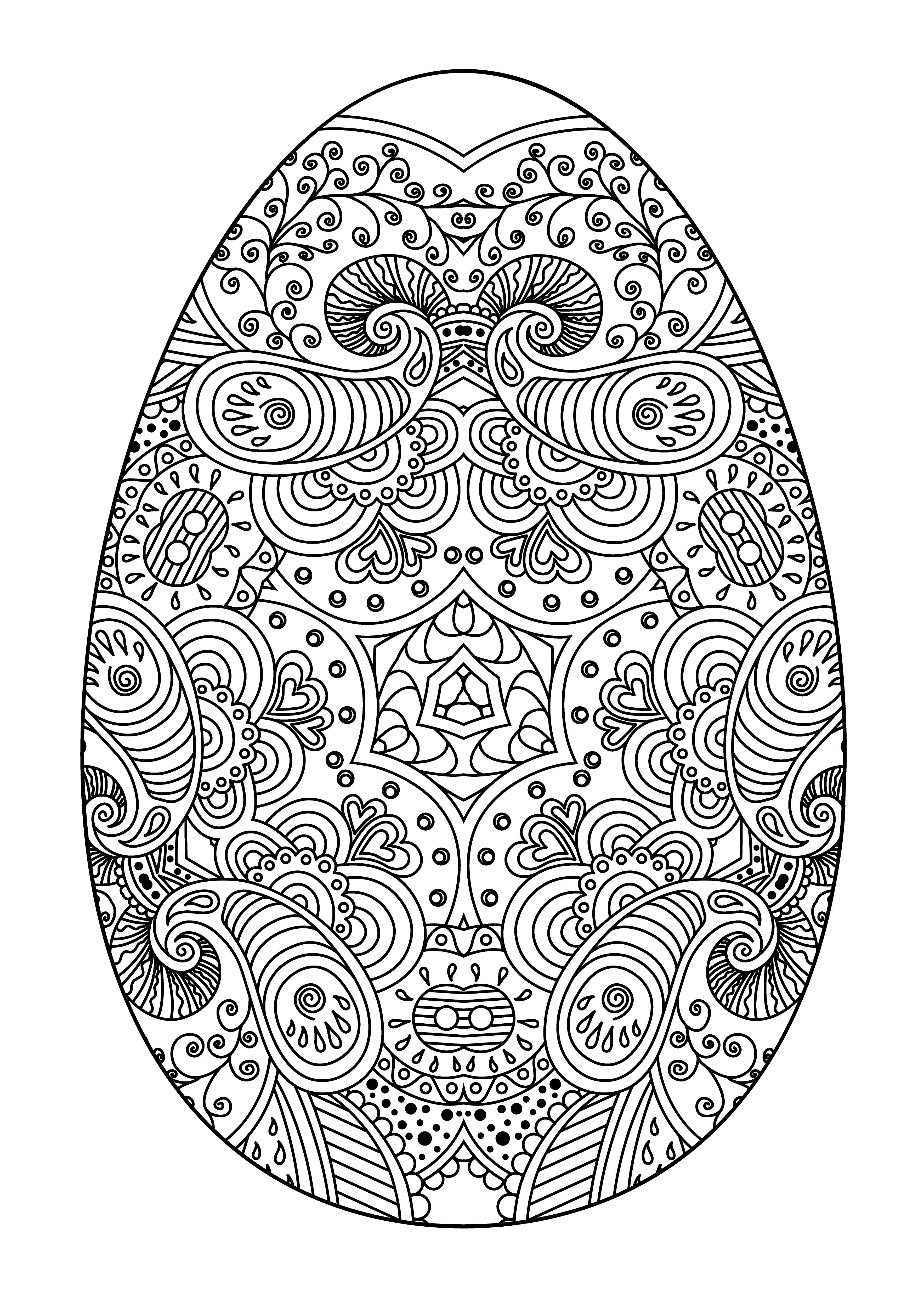 разрисованное яйцо на пасху праздники раскраски антистресс