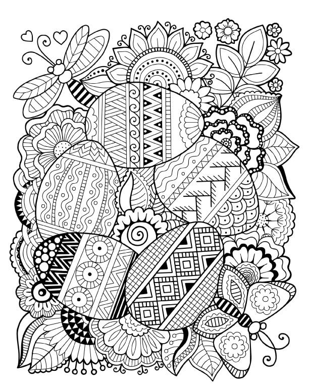 пасхальная композиция праздники раскраски антистресс