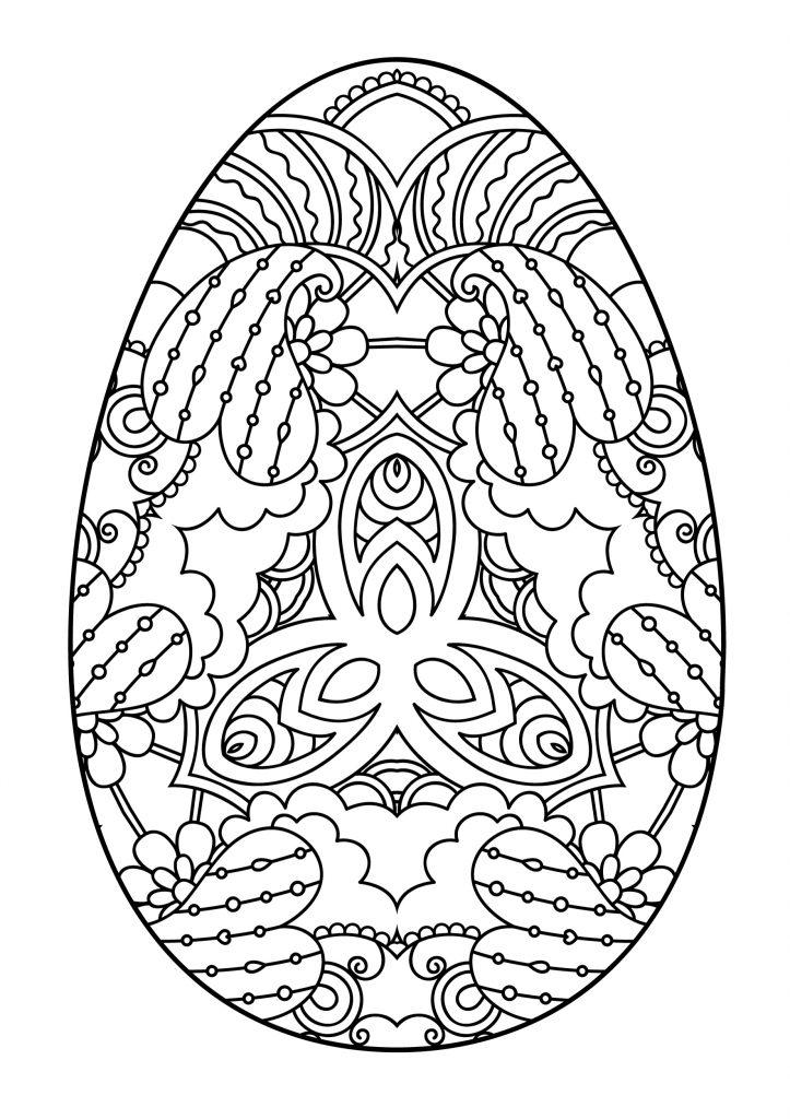 Раскраски праздник Пасха для детей «Пасхальное яйцо», чтобы распечатать