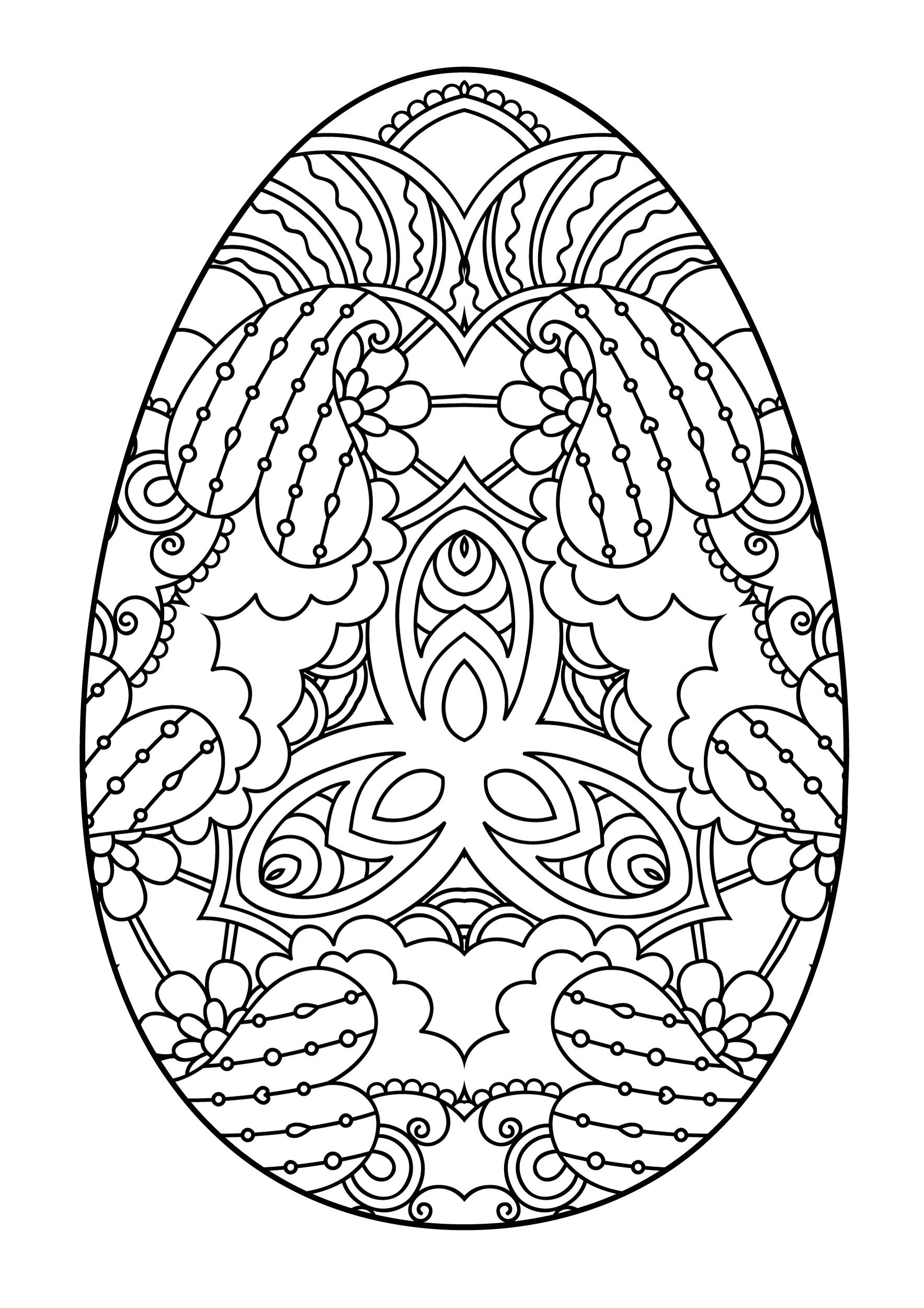 пасхальное яйцо праздники раскраски антистресс