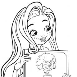 Раскраски для девочек Куколка парикмахер для дерева «Hairdorables», чтобы распечатать