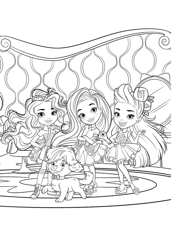 Раскраски для девочек Подружки «Hairdorables», чтобы распечатать