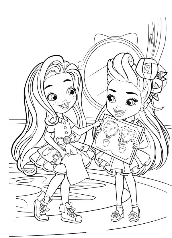 Раскраски для девочек прически для деревьев «Hairdorables», чтобы распечатать