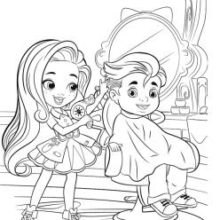 Раскраски для девочек Салон красоты «Hairdorables», чтобы распечатать