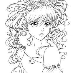 Раскраска невеста аниме, чтобы распечатать